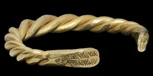 Heavy Scandinavian Viking Gold Twisted Bracelet