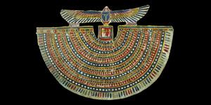Egyptian Polychrome Cartonnage Collar