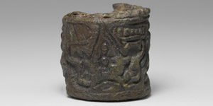 Western Asiatic Bactrian Silver Cylinder Seal