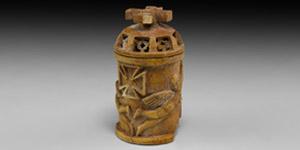 Byzantine Carved Lidded Pyxis