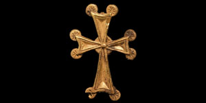 Byzantine Gold Cross with Lobes