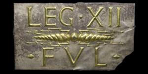 Roman Gilt Silver Thunderbolt Legio XII Plaque