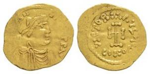 Ancient Byzantine Coins - Constans II - Gold Cross Tremissis