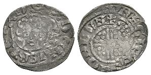 English Medieval Coins - Henry III - London / Gifrie - Short Cross Penny
