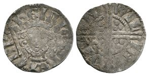 English Medieval Coins - Henry III - London / Willem - Long Cross Penny