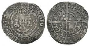 English Tudor Coins - Henry VII - London - Facing Bust Groat