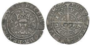 English Medieval Coins - Henry VI - Calais - Annulet Halfgroat