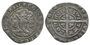 English Medieval Coins - Edward III - London - Pre Treaty Halfgroat