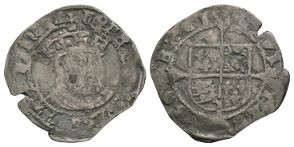 English Tudor Coins - Edward VI (in name of Henry VIII) - York - Facing Bust Groat