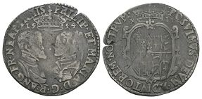 English Tudor Coins - Philip and Mary - 1554 - Shilling