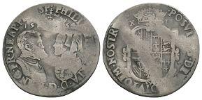 English Tudor Coins - Philip and Mary - 1554 - Shilling