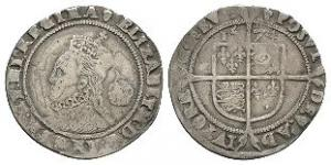 English Tudor Coins - Elizabeth I - 1574 - Sixpence