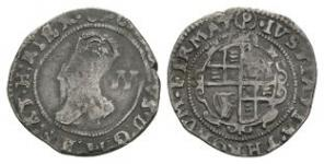English Stuart Coins - Charles I - Tower under Parliament - Halfgroat