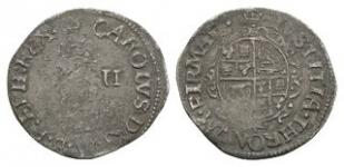 English Stuart Coins - Charles I - Tower - Halfgroat