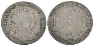 English Milled Coins - William and Mary - 1691 - Halfcrown