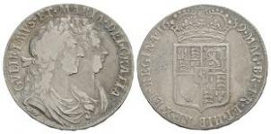 English Milled Coins - William and Mary - 1689 - Halfcrown