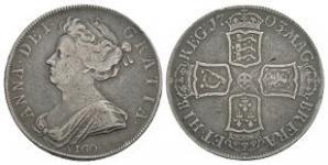 English Milled Coins - Anne - 1703 VIGO - Halfcrown