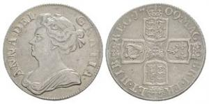 English Milled Coins - Anne - 1709 - Shilling