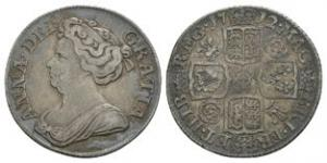 English Milled Coins - Anne - 1712 - Shilling