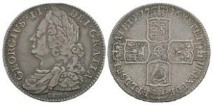 English Milled Coins - George II - 1746 LIMA - Halfcrown