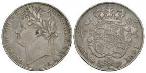 English Milled Coins - George IV - 1821 - Halfcrown