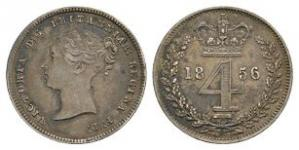 English Milled Coins - Victoria - 1856 - Maundy Groat