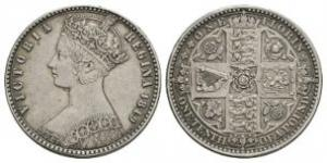 English Milled Coins - Victoria - 1849 - Godless Florin