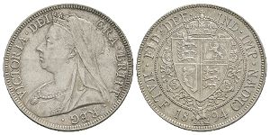 English Milled Coins - Victoria - 1894 - Halfcrown