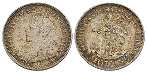 World Coins - South Africa - George V - 1932 - Shilling