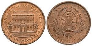 World Coins - Canada - 1837 - Bank Token Penny