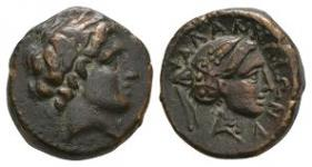 Ancient Greek Coins - Thessaly - Phalanna - Portrait Bronze