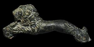 Roman Leaping Lion Folding Knife Handle