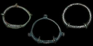 Celtic Iron Age - Three Bronze Terret Rings