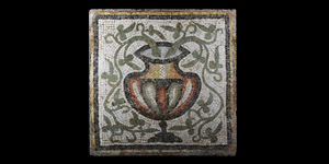Roman Mosaic with Kantharos and Vines