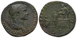 Trajan - Parthamaspates Sestertius