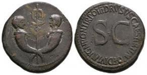 Drusus - Twins Cornucopiae Sestertius