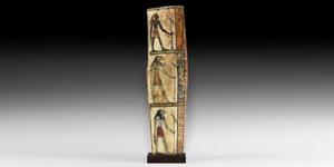 Romano-Egyptian Painted Wooden Panel