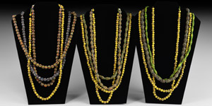 Glass Trade Bead String Collection