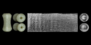 Large Western Asiatic Cylinder Seal with Pseudo-Hieroglyphics