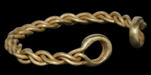 Iron Age Celtic Gold Wire Arm Ring