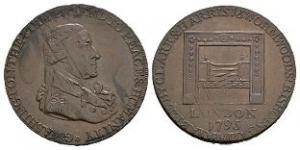 World Tokens - USA - Washington 1795 - Double Struck Brockage Token Halfpenny
