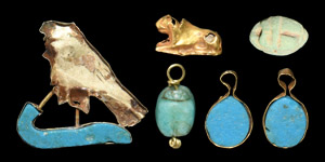 Gold and Composition Amulet Group