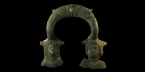 Roman Vessel Handle with Busts