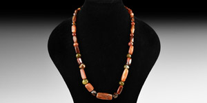 Carnelian and Other Bead Necklace