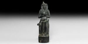 Egyptian Isis Suckling Infant Horus Figure
