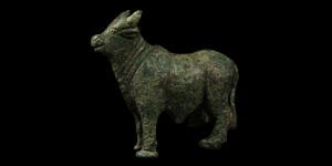 Standing Bull Statuette