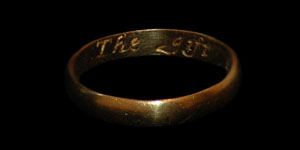 17th Century - Gold Inscribed Posy Ring - The gift of a frend