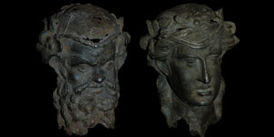 Roman - Silver Addorsed Double Bust
