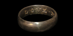 Post Medieval - Silver-Gilt Posy Ring - LOVE ME ONLI