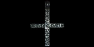 Medieval - Inscribed Silver Pendant Cross